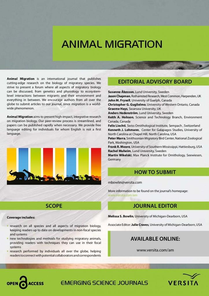 Animal Migration journal fact sheet