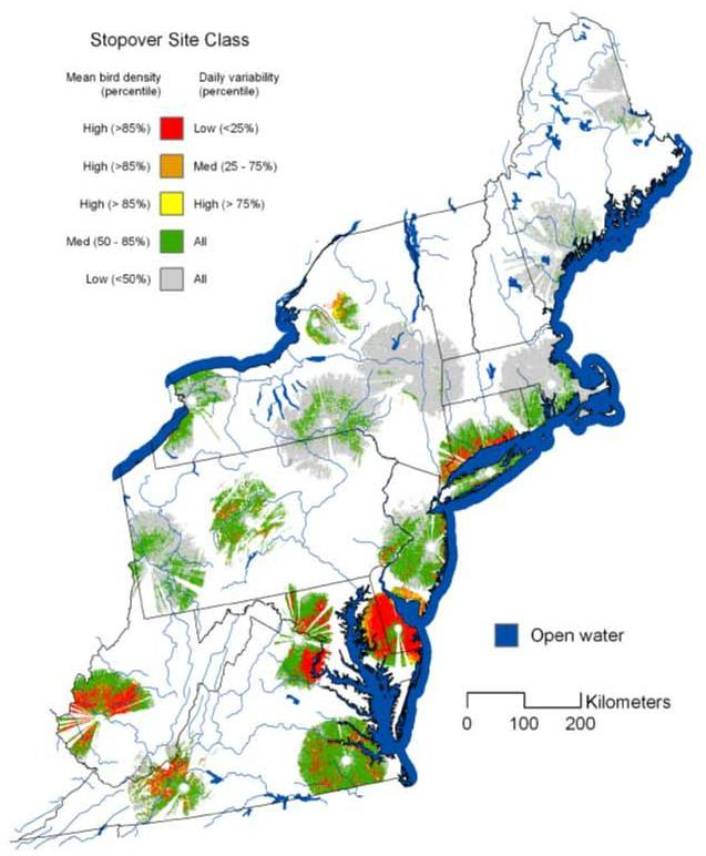 Buler and Dawson (2012) Radar analysis of fall bird migration stopover sites in the northeastern U.S.