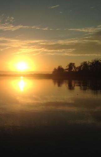 Sunrise on the Altamaha River, Darien, Georgia.