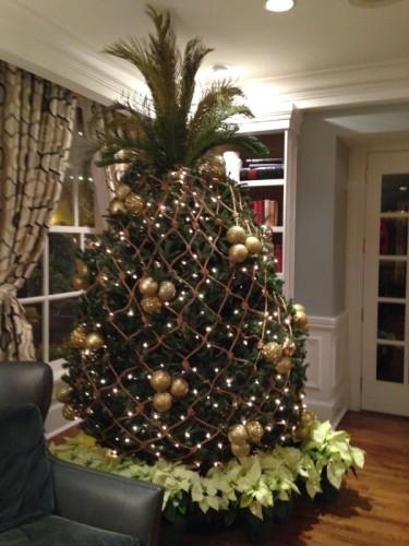 Pineapple shaped Christmas Tree in Savannah, Georgia