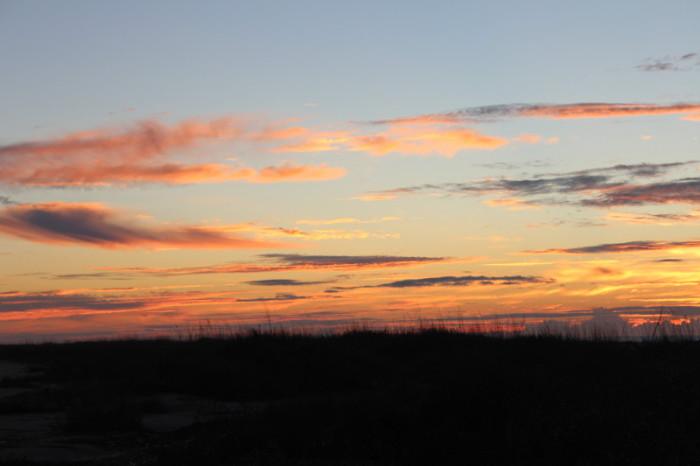 Sunrise at Cape Romaine National Wildlife Refuge
