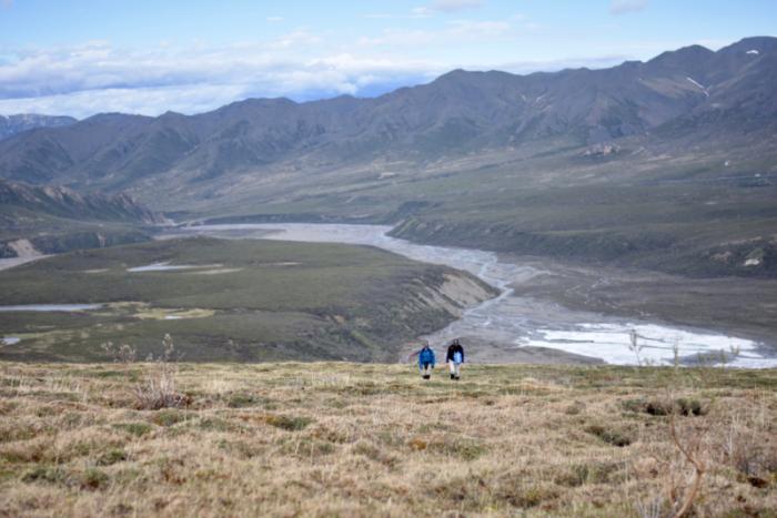 Hiking above the river up to alpine tundra. Photos by Mary Lewandowski