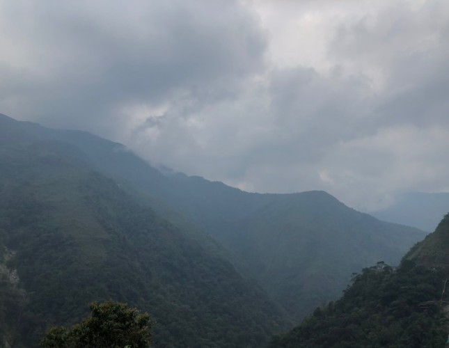 Andes in Colombia.